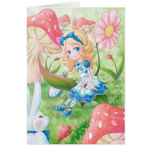 Greetings card - Alice