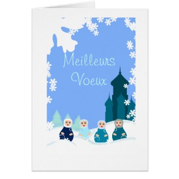 Christmas Themed greetings card blue Russian headstocks