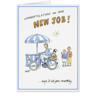 Greetings card - congratulations on your new job!