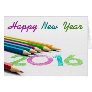 Greetings card drawing - new year 2016