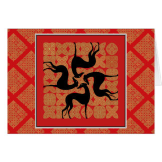 Greetings card Greyhound