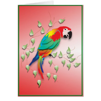 Greetings card Talking parrot