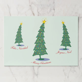 # Greetings Christmas Tree Paper Placemat