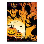 Greetings_ de Halloween Tarjetas Postales