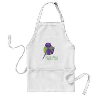 Greetings Earthling Adult Apron