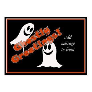 ¡Greetings~ fantasmal! Fantasma lindo del dibujo Tarjetas De Visita Grandes