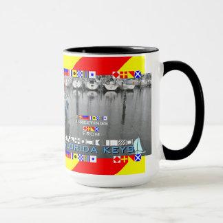 Greetings Florida Keys Nautical Flags personalized Mug