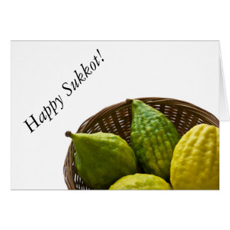 Greetings for Sukkot Card