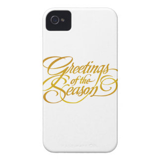 Greetings for the Season - in Yellow Gold iPhone 4 Case-Mate Cases