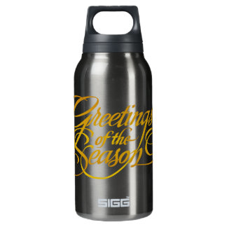 Greetings for the Season - in Yellow/Gold Insulated Water Bottle