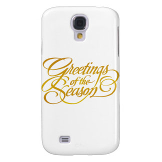 Greetings for the Season - in Yellow/Gold Samsung S4 Case