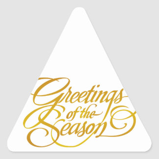 Greetings for the Season - in Yellow Gold Sticker
