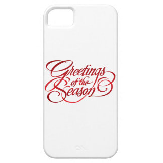 Greetings for the Season - Red iPhone 5 Covers