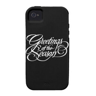 Greetings for the Season - White iPhone 4 Cases