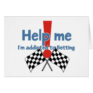 Greetings from a Betting addict Greeting Card