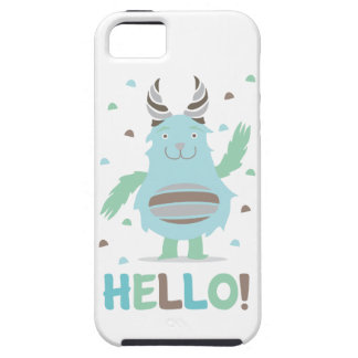 Greetings from a friendly blue monster iPhone SE/5/5s case