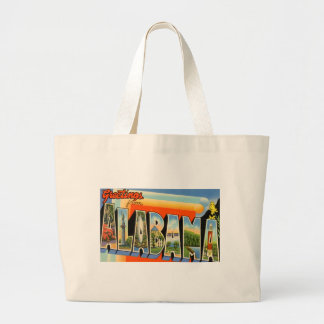 Greetings From Alabama Large Tote Bag