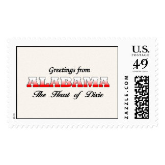 Greetings from Alabama Stamp