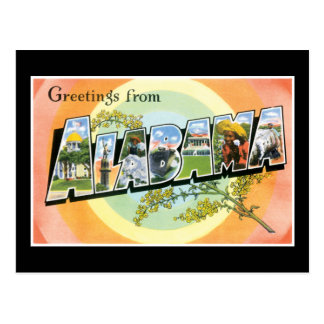 Greetings From Alabama Postcards