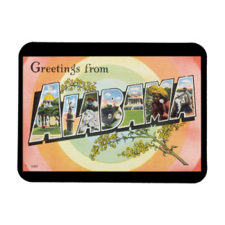 Greetings from Alabama_Vintage Travel Poster Magnet