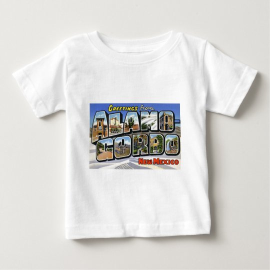 Greetings from Alamo Gordo New Mexico Baby T-Shirt