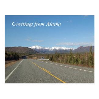 Greetings from Alaska Postcard
