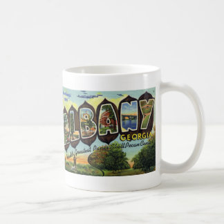 Greetings from Albany GA Vintage Postcard Mug