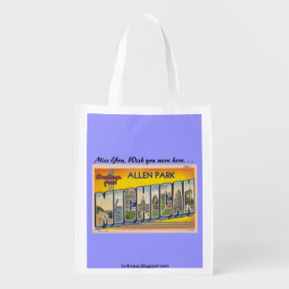 Greetings from Allen Park, Michigan Reusable Grocery Bag