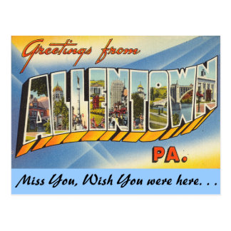 Greetings from Allentown Postcard