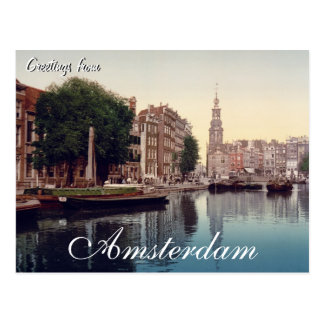 Greetings from Amsterdam Postcard