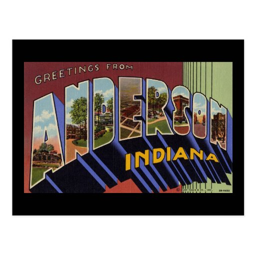 greetings from anderson indiana postcard zazzle anderson university case study acuity brands