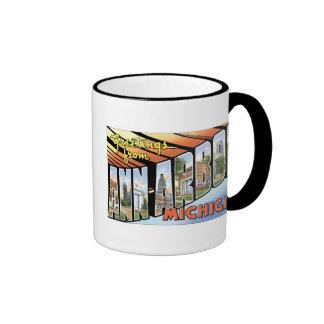 Greetings from Ann Arbor, Michigan! Ringer Mug