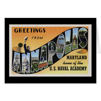 Greetings from Annapolis Maryland Card