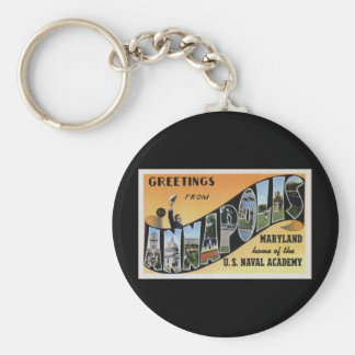 Greetings from Annapolis Maryland Basic Round Button Keychain