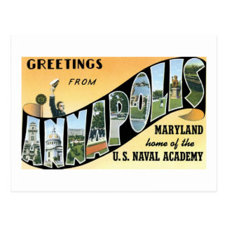 Greetings from Annapolis, MD, Home of Naval Academ Postcard