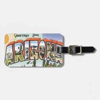 Greetings From Arizona Bag Tag