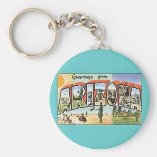 Greetings from Arizona Basic Round Button Keychain