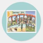 Greetings From Arizona Classic Round Sticker