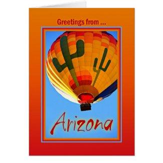 Greetings From Arizona Greeting Card