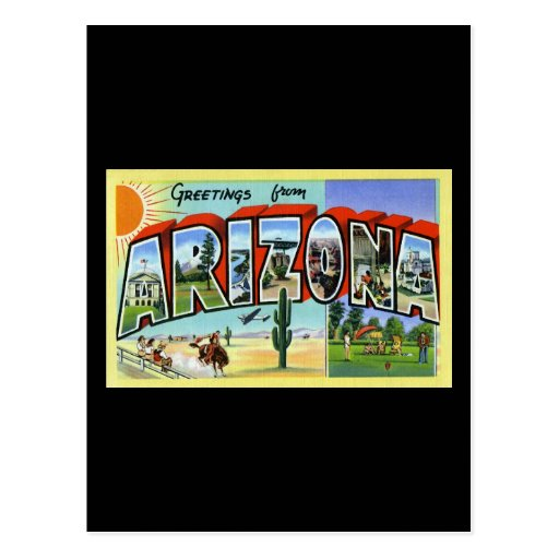Greetings from Arizona Post Cards