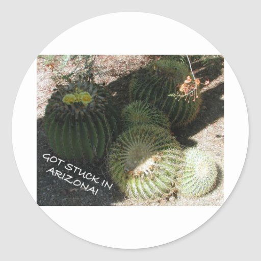 GREETINGS FROM ARIZONA (SELECTION) CLASSIC ROUND STICKER