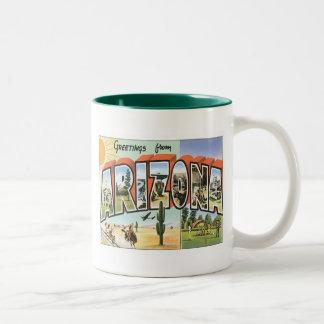 Greetings From Arizona Two-Tone Coffee Mug