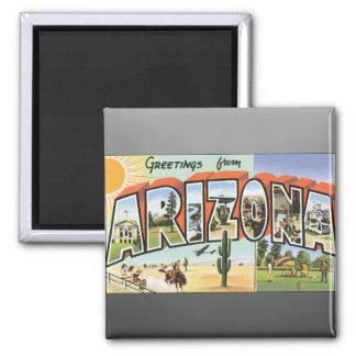 Greetings From Arizona, Vintage Refrigerator Magnet