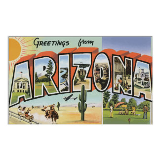 Greetings From Arizona, Vintage Poster