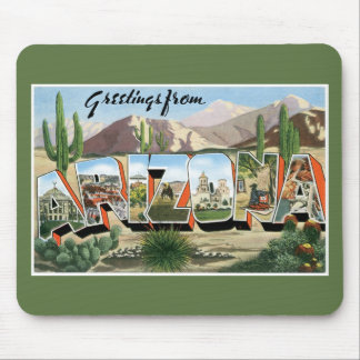 Greetings from Arizona! Vintage Road Tripping! Mouse Pad