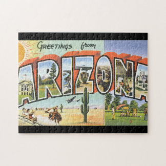 Greetings from Arizona_Vintage Travel Poster Jigsaw Puzzle