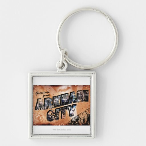 Greetings from Arkham City Keychain