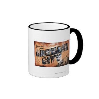 Greetings from Arkham City Ringer Mug