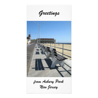 Greetings from Asbury Park Boardwalk Photo Greeting Card