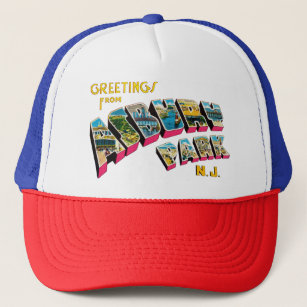 Greetings from Asbury Park New Jersey Trucker Hat 71aeceeee87e